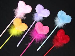 Novelty Beautiful Heart Soft Plush Fluffy Fun Gift Ballpoint Stationery Pen
