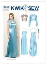 Kwik Sew Sewing Pattern 3516 Misses' Formal Strapless Dress Bolero Jackets XS-XL