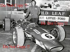 Jim Clark Gold Leaf Team Lotus 49T Portrait Tasman Series 1968 Photograph 3