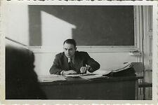 PHOTO ANCIENNE - VINTAGE SNAPSHOT - PROFESSEUR ÉCOLE CLASSE BUREAU - CLASSROOM 1