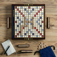 Scrabble Deluxe Travel Edition Wooden Folding Board Game Road Trip Free Shipping