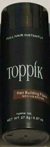 TOPPIK Medium Brown 27.5g Toppik Hair Building Fibers 369 FIBRES COVER UNISEX US