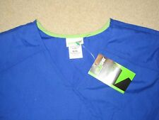 SCRUB STAR WOMEN'S  SCRUBS NURSE DOCTOR SHIRT BLUE XL NEW NWT POLYESTER COTTON