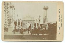 RARE NEW YORK CITY ARCHITECTURAL SCENIC: The Dewey Triumphal Arch Cabinet Card