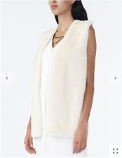 ARMANI EXCHANGE WAISTCOAT sweater vest Plush fur white knit back size L RTP$170