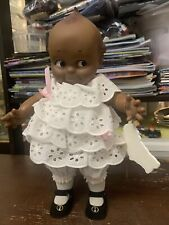 Cameo Jesco Black Kewpie Doll Girl African American White  dress 12""