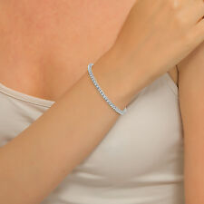 NATURAL ROUND DIAMOND TENNIS BRACELET TCW 2.90 18kt white gold 10.54gr prong set