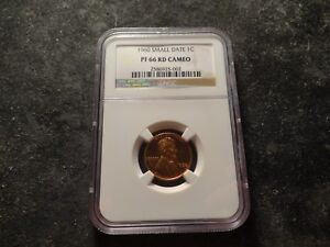 1960 NGC PR66 Cameo RED RD Lincoln Head Cent  Small Date SLABZ
