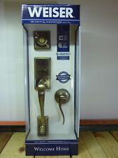 Weiser Welcome Home 9GLA94710-017, Hawthorne Handle & Lock Set, Antique Brass