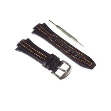 15x27mm Genuine Leather Watch Strap Band Fits For Seiko Sportura W/ Tool