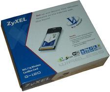 Zyxel G-120 CardBus Card 802.11g Wireless Neu !!!                            *12