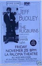 JEFF BUCKLEY / THE RUGBURNS /BRENDA KAHN 1994 ENCINITAS, CA CONCERT TOUR POSTER