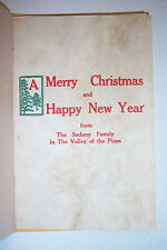 Merry Christmas & Happy New Year. By Joseph Sadony. Valley Press, Montague. 1929