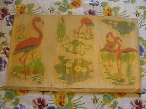 vintage PINK FLAMINGO DECAL CARD 3 pictures