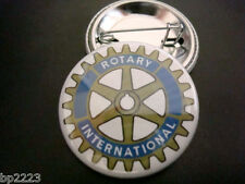 "ROTARY INTERNATIONAL Club BUTTON Badge 1-1/4"" w/Pinback NEW, Professional"