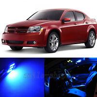 For 2011 2012 2013 2014 Dodge Avenger LED Lights Interior Package Kit BLUE 6PCS
