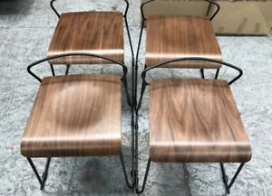 Contemporary Low Back Indusrtiral Style Stacking Chairs £95