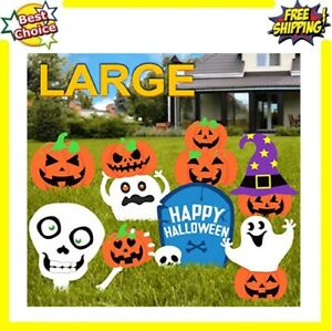 Pumpkins Skeleton And Ghost Yard Signs With Stake Halloween Decorations Outdoor