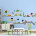 Wall Stickers Nursery Decals Cars Tracks Traffic Park Wall Art Home Decor Au