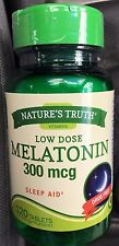 Natures truth nature's Melatonin 120 tablets 300 mcg sleep aid Exp 2019 or later
