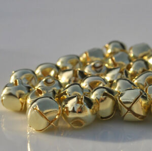 Pack of 10 Jingle Bells - Christmas Bells - Silver or Gold - 10mm or 20mm