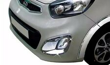 For 2012 ~ 2015 KIA PICANTO Morning New Chrome Fog Light Lamp Cover Molding Trim