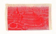 Stevengraph Silk Titled 'Winter Gardens, Blackpool' c.1888 Rare Red Souvenir
