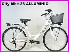 bici bicicletta donna 26 da passeggio city bike telaio in ALLUMINIO vari colori