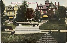 Spanish Cannon in Hagerstown MD Postcard