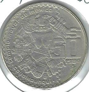 1982 Mexican 50 Pesos Coyolxauhqui Aztec Coin!