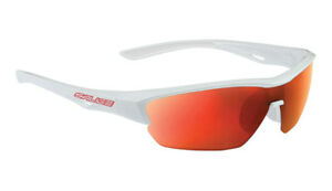 SALICE 011 Sport Sunglasses White / Red includes case and extra clear lens