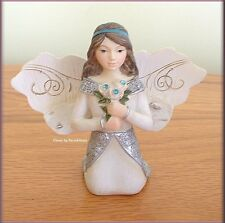 """DECEMBER MONTHLY ANGEL FIGURINE 3"""" BY PAVILION ELEMENTS FREE U.S. SHIPPING"""