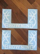 """Browning Rear Window Decal Graphic Truck Car SUV - 2 Two Large 20"""" Wide White"""