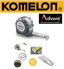 KOMELON 5m/16ft cm/inch Stainless Steel INOX 19mm Blade Tape Measure IR59E