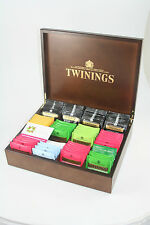 Twinings Exclusive 12 compartment Dark Wood and Gold Tea Chest Caddy Luxury