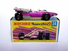 Matchbox Lesney No.34d Formula 1 Racing Car In Type G2 Box (EARLY MODEL, MINT!)