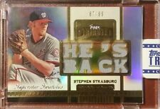 2012 Topps Tribute Superstar Swatches STEPHEN STRASBURG Jersey Patches /99