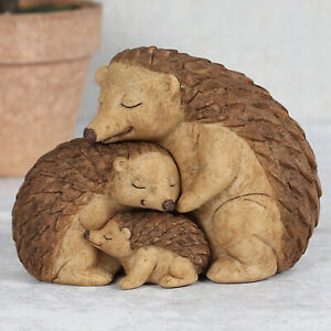 Hedgehog Family Ornament Animal Figurine Romantic Love New Baby Adoption Gift