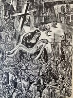 Albert Decaris PhotoGravure Crucifixion De Jesus Christ Marie Procession Espagne