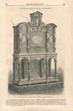 Buffet Meuble Français Musée de Kensington Londres dessin d'Ulysse GRAVURE 1868