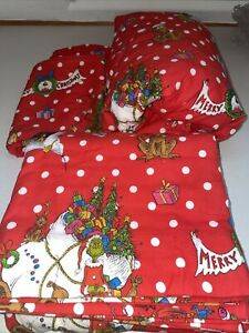 Pottery Barn Teen Dr. Seuss's Grinch 4 piece Flannel  Sheet Set, Christmas FULL