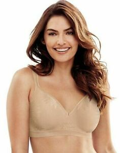 NWT Beauty by Bali Comfort Revolution Wire Free Bra 36B Lt Brown Free Shipping