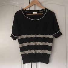 Monsoon Top Fine Knit Size Medium Black