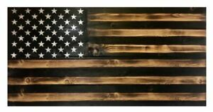 "RUSTIC AMERICAN FLAG WOODEN NOVELTY INDOOR/OUTDOOR SIGN 11"" x 20.25"" #045"