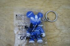 Adidas adicolor Toy2r Qee BLUE figure key chain bearbrick! FREE SHIPPING SEALED