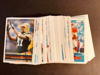 1996 Topps MISSING FOIL BLANK BACK NFL PROOF You Pick Your Card