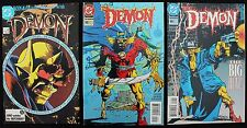 Demon 4, 49 & 50 lot of 3 vfn+ horror 'cent' DC Comics Garth Ennis & Matt Wagner