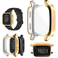 w/ Screen Protector Electroplating TUP Protective Shell for Garmin Venu SQ Watch