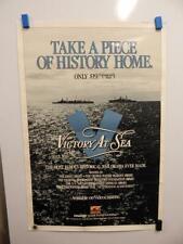 """VICTORY AT SEA"" Vintage 1952 Poster EMMY AWARD World War II History Drama Navy"