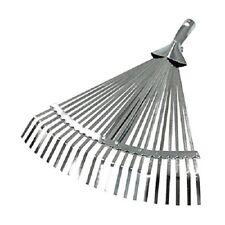 Rastrello scopa tirafoglie regolabile zincato per foglie 22 denti